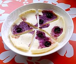 蓝莓酸奶蛋白饼(微波炉版)的做法