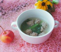小白菜肉丸粉丝汤的做法