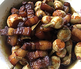 小慈菇烧红烧肉的做法