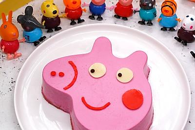 小豬佩奇火龍果慕斯蛋糕