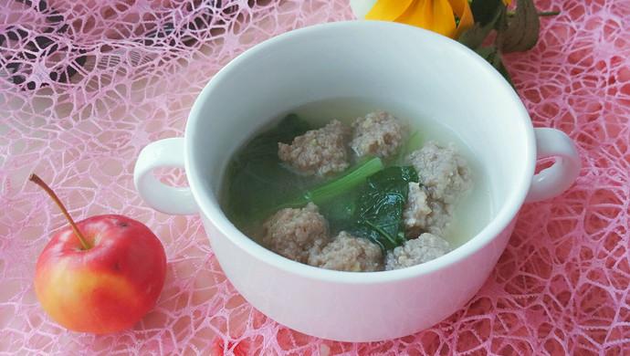 小白菜肉丸粉丝汤