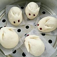 小兔子绿豆沙包的做法图解10