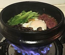 腊肠石锅拌饭的做法