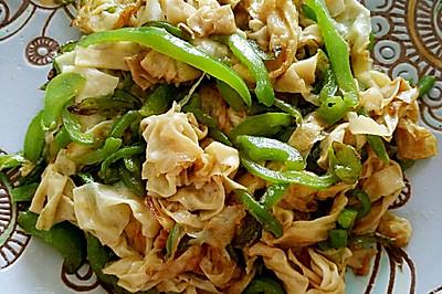 青椒油豆皮