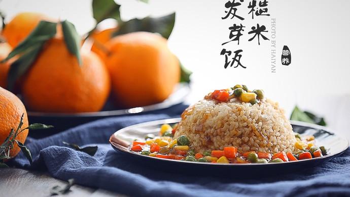 杂蔬糙米发芽饭