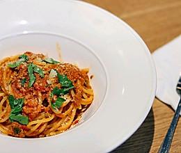 意大利肉酱面丨酸甜爽口,美味又顶饱的做法