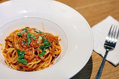 意大利肉酱面丨酸甜爽口,美味又顶饱