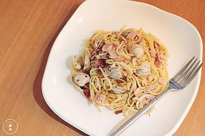 白酒蛤蜊意大利面|一厨作