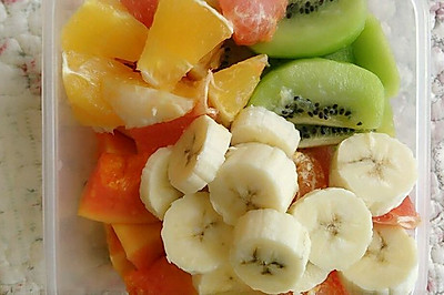 水果沙拉,阳光的早晨