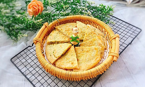 葱香五香芝麻饼#雀巢营养早餐#的做法