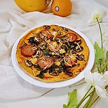 #换着花样吃早餐#超快手中式披萨