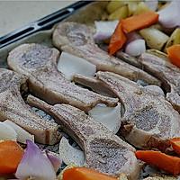 嫩烤黑椒时蔬羊排的做法图解9