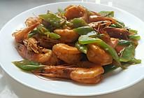 莴苣香爆海白虾的做法