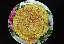 玉米胡萝卜鸡蛋饼的做法