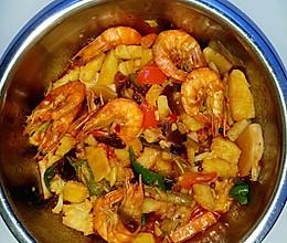 私房香辣干锅虾的做法