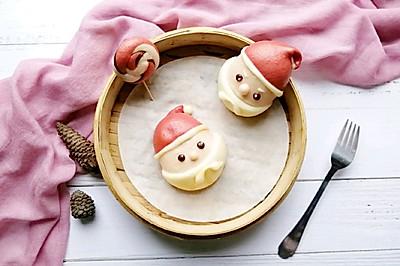 圣誕老人豆沙包~中式面點助力圣誕