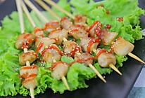 平底锅鸡肉串 宝宝辅食食谱的做法
