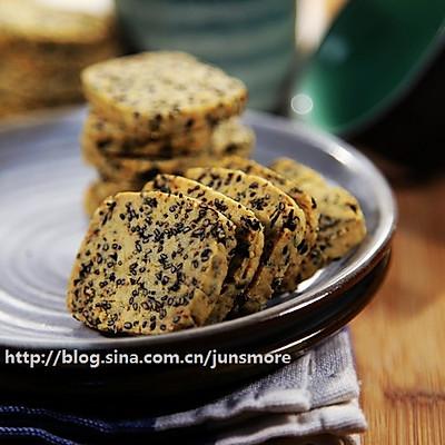 黑芝麻海苔饼干