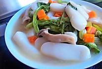 什锦蔬菜汤年糕的做法