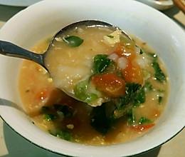 萝卜缨子疙瘩汤的做法