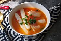番茄龙利鱼年糕汤的做法