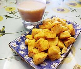 快手早餐/小吃——香煎孜然馒头的做法