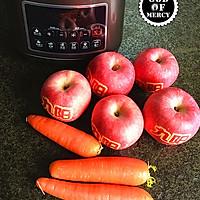 最有效逆生长的秘方=全能美容瘦身抗癌的苹果胡萝卜果汁的做法图解1