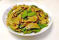 尖椒豆腐皮(千张)的做法