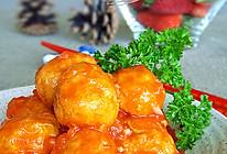 茄汁煨金球的做法