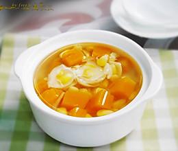 袪湿补气--玉米南瓜百合甜汤的做法