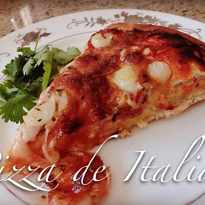 【法国蓝带配方】意式大蒜番茄比萨