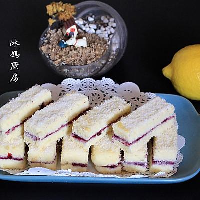椰丝蓝莓夹心蛋糕