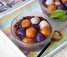 红豆三色芋圆的做法