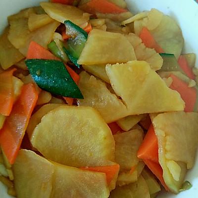 减肥系列1---土豆片炒胡萝卜片