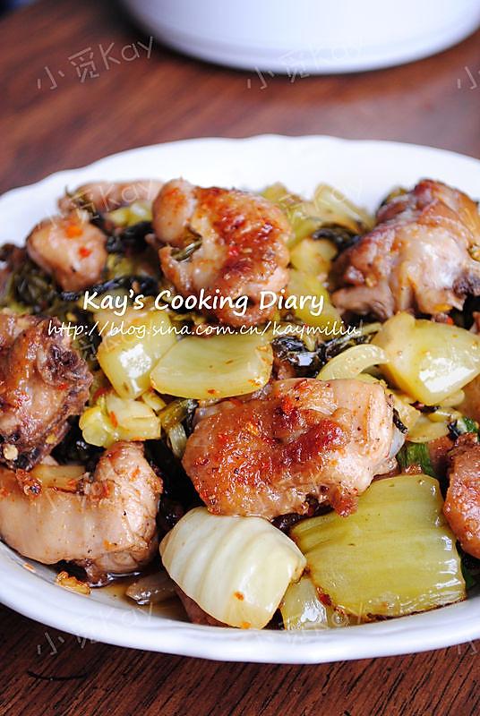 酸菜炒鸡的做法
