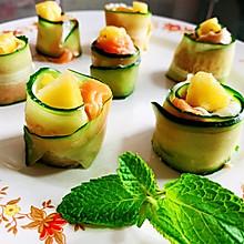 黄瓜三文鱼卷