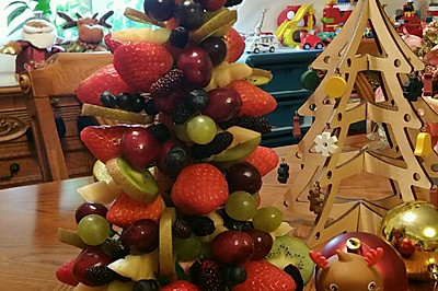 水果圣诞树