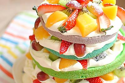 2015华丽开篇 彩虹裸蛋糕