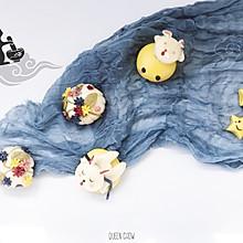 【中秋银河系卡通包子】兔子,星星,月亮,月饼卡通馒头
