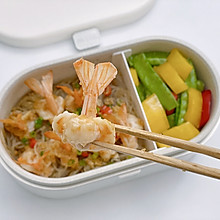 适盒食谱|蒸蒜蓉粉丝凤尾虾