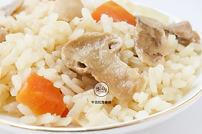 鸡肉松茸焖饭|牛佤松茸食谱