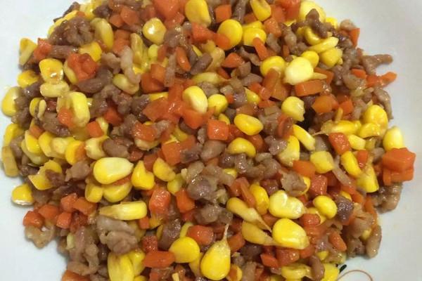 玉米红萝卜炒丁