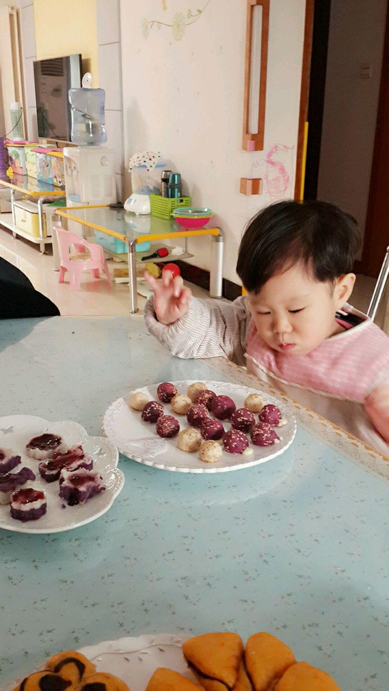 紫薯山药奶酪球