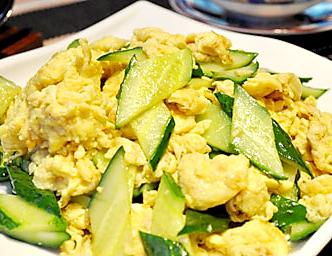 【减肥食谱】鸡蛋炒黄瓜
