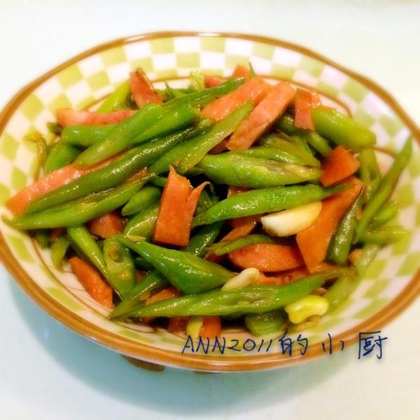 四季豆炒火腿的做法