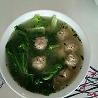丸子汤的做法图解6