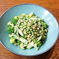 秋葵藜麦牛肉沙拉配苹果菠菜汁的做法图解7