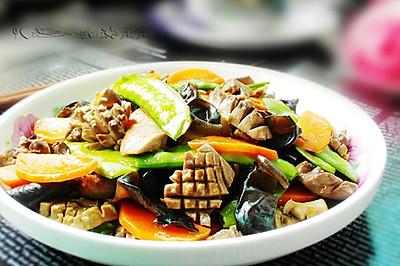 荷兰豆炒腰片