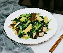 冬笋香菇塔菜#春季食材大比拼#的做法