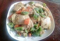 青椒胡萝卜炒千页豆腐的做法